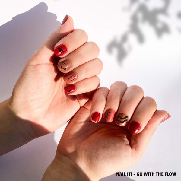 Go With Th Flow Nailshot Tattoos